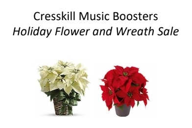 Cresskill Music Boosters Announce Holiday Flower & Wreath Sale